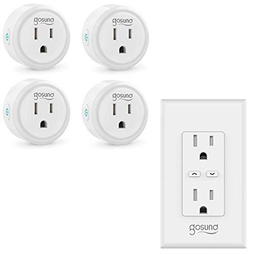 Smart Plug 4pack and Smart Wall Outlet with Energy Monitoring 1pack