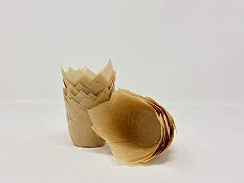 200 mini-caissettes Bakery direct, coloris caramel et forme tulipe, idéal pour canapés/petits fours