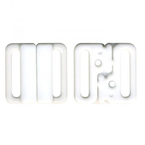 mediac 3 Sets Attache Bikini Maillot de Bain 20mm Blanc