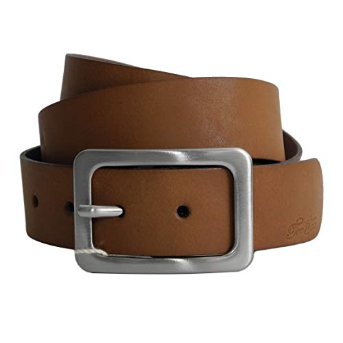 Damen-Gürtel Leder von Tom Tailor - Damenledergürtel Womans' belt aus Vollleder Metall Dornschließe (Baileys 95cm) - präsentiert von ZMOKA®