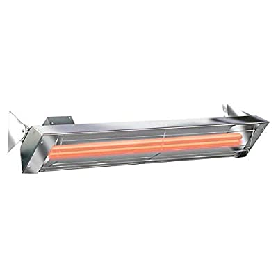 Infratech Wd-Series 61 1/4-inch 6000w Dual Element Electric Infrared Patio Heater - 240v - Stainless Steel - Wd6024ss