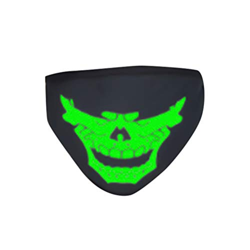 Garneck Baumwolle Gesichtsmaske Halloween Leuchtende Gesichtsmaske Unisex Atmungsaktiv Anime Anti-Staub Anti-Nebel Kältefeste Mundbedeckung Halloween Geschenk Cosplay