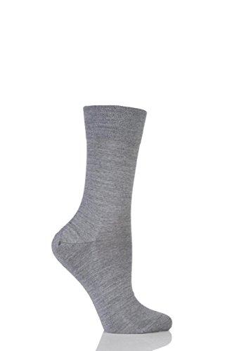 FALKE Sensitive Berlin Merino Wolle-Mix, anatomisch geformte links & rechts Gentle Grip Socken - 5,5-8 Ladies - Shetland