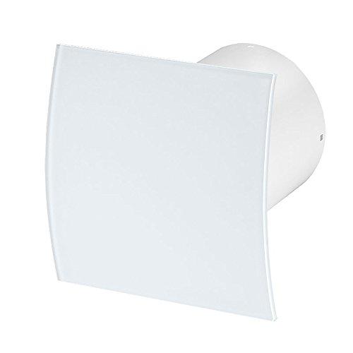 Badlüfter Wand-Ventilator Ø 100 Kugellager Silent Standard Escudo Glas - Line System+ (echtglas)