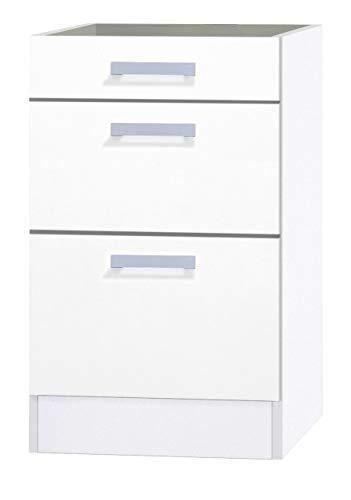 OPTIFIT Kult Unterschrank ohne Arbeitsplatte 3 Schubladen »Oslo«, weiß, 50 cm breit, UO536-9+KUOS