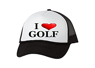 Rogue River Tactical Funny Golf Hat I Love Golf Heart Trucker Baseball Cap Retro Vintage Golfers Gift