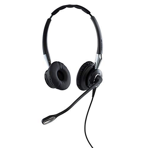 Jabra Biz 2400 II QD On-Ear Stereo Headset mit Schnelltrennkupplung - Leichtgewichtiger Noise Cancelling Kabel-Kopfhörer mit HD Voice und weichem Kopfpolster für Tischtelefone