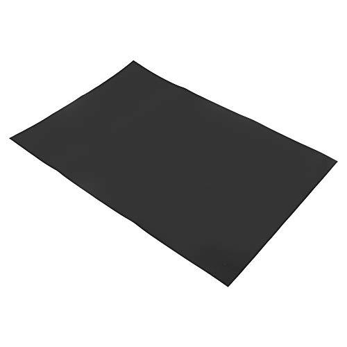 Changor Mat de Silicona Resistente, 25x25cm de hasta 250 ℃ 22 cm Deadener Sound Silica Gel Fabricado para cocinar de Cocina (Negro)