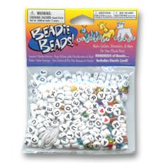 Perles & Co Kit de perline alfabeto e rocailles bianco x80 gr