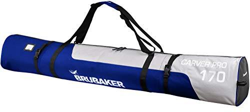 Brubaker Carver PRO Skitasche Skisack blau/Silber 170 cm