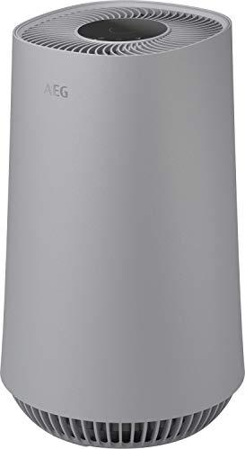 AEG AX31-201GY Purificador de Aire - Filtro Anti Bacteriano, Elimina 99,6% Bacterias del Aire, Flujo de Aire hasta 40m2, Pantalla LED, Modo Automático, Silencioso - Gris