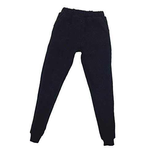 chiwanji 1/6 12 '' Accesorios para Figuras de Acción Muñeca Masculina Camuflaje Bolsillo Pantalones Negros