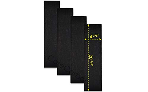 CoreCarbon 4-Pack Carbon Pre-Filter Designed to Fit Honeywell HEPAClean Air Purifier Models HHT-080, HHT-081, HHT-085-HD, HHT-090, HHT-100, HHT-145, HHT-149, HHT-149-HD, HHT-155