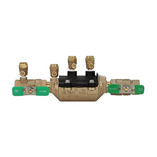 Wilkins 34-350XL Double Check Lead-Free Composite Vessel Valve Assembly, 3/4',Bronze