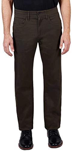 Weatherproof Vintage Men's 5 Pocket Journey Pant (36W x 30L, Brown Olive)