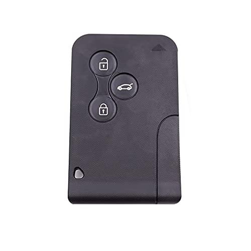 UTDKLPBXAQ Mando a distancia para llave de coche con chip integrado con 1 carcasa + 3 botones + 1 pila CR2032 de 433 MHz compatible con R-M