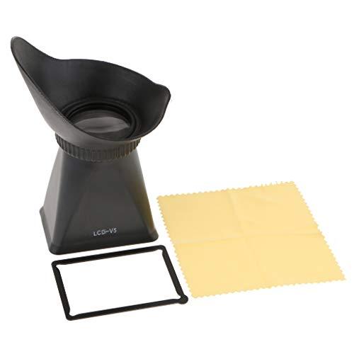 """Homyl 1 Piece V5 3"""" LCD Viewfinder 2.8X Magnifier Extender Hood Eyecup for 1 J1 V1 DSLR Camera"""