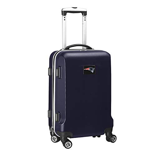 Denco NFL New England Patriots Carry-On Hardcase Luggage Spinner, Navy