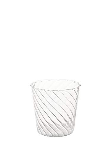 ichendorf Venezia Ottico Set 6 Bicchieri Acqua Vetro Trasparente