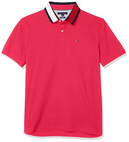 Tommy Hilfiger Men's Flag Pride Polo Shirt in Custom Fit, Bright Jewel