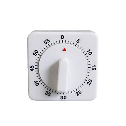 Temporizador de cocina 60 minutos temporizador mecánico con alarma fuerte viento cuenta atrás reloj cuadrado temporizador para cocinar hornear