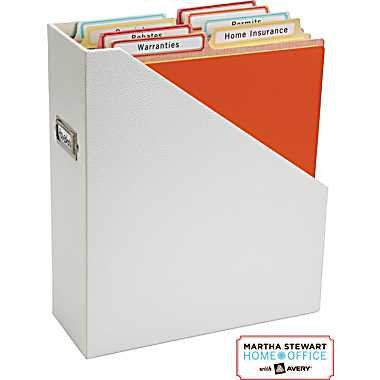 """Martha Stewart Home Office with Avery Vertical File Folder 2 Tabs 1/2-cut 6 Vertical File Folders, Assorted Colors - Orange, Red, Yellow, 9-1/8"""" X 12"""" 24520 Photo #2"""