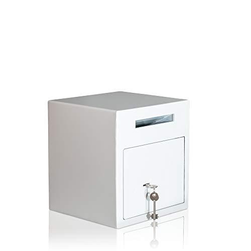 Caja fuerte tipo buzón, caja fuerte para Boutique, caja fuerte para tienda de moda, caja fuerte para bar, cerradura con llave, blanco brillante