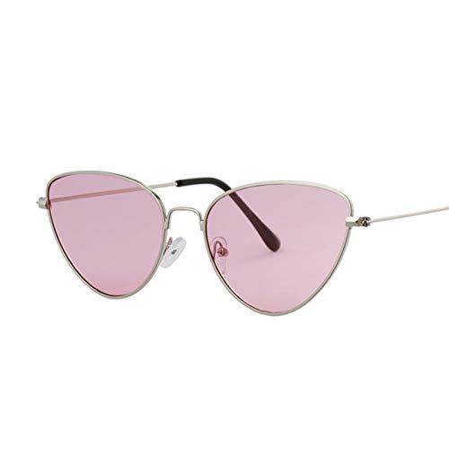 ShSnnwrl Gafas De Moda Gafas De Sol Gafas De Sol De Mariposa Rosa para Mujer, Gafas De Sol De Espejo De Oro Rosa De Moda Vintage para Mujer, Rosa Platead