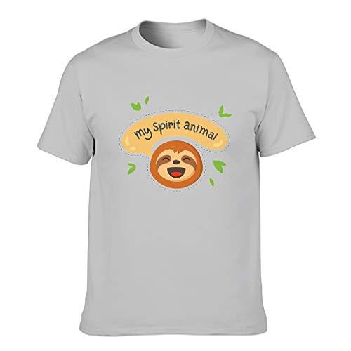 My Spirit Animal - Camiseta para hombre, diseño de animal con patrón de estilo europeo con sensación transpirable, regalo para novio