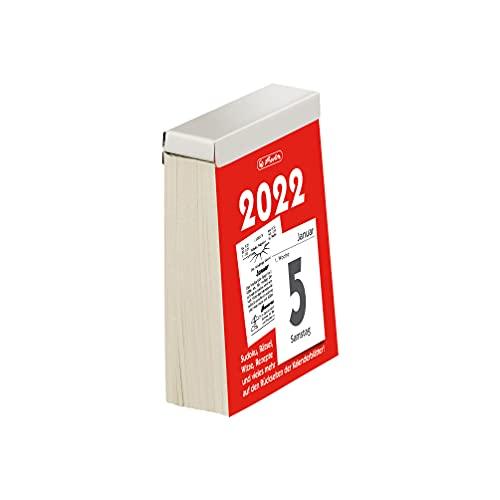 Herlitz 50035984 Abreißkalender Gr.5 2022, 8,1 x 10,6 cm, 1 Stück