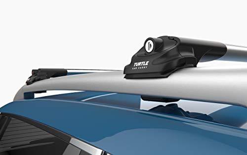LTS AUTO Riel para Techo de Nissan X-Trail SUV Gray con Barras Cruzadas