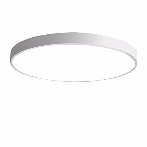 PANNN Runde Deckenlampe Ultra-dünne LED Deckenleuchte Modern Einfachheit Pendelleuchte Stärke 5 cm Kinder Deckenlampe für Wohnzimmer Schlafzimmer Kinderzimmer Restaurant, weiß, 40cm weißes Licht