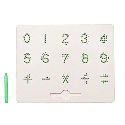 shentaotao Los niños magnéticos Tablero de Escritura Multi de la función de Escritura a Mano Números magnéticos Números Junta portátiles Juguete Educativo magnético de la Tableta