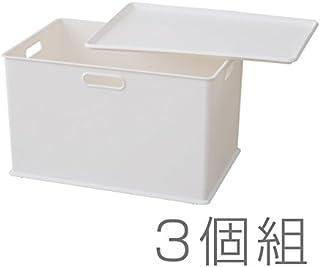 サンカ 日本製 squ+ インナーボックス 3個セット ふた付 ホワイト SQB-L*3+PML*3 WH
