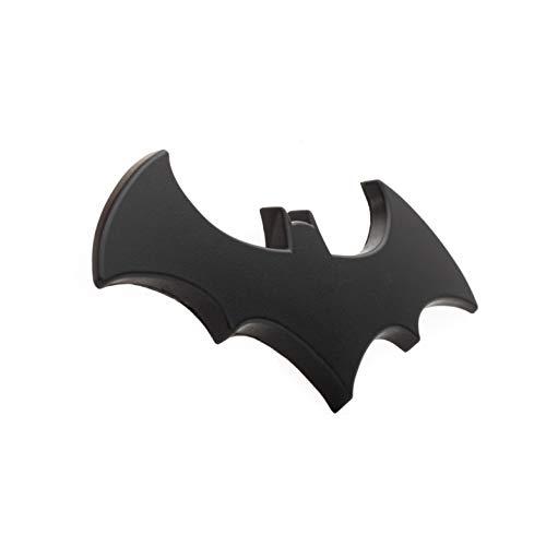 """Batman 3D Matte Black Auto Emblem - (4.2"""" x 2"""") - The Dark Knight Decal For Cars, Trucks, SUVs"""