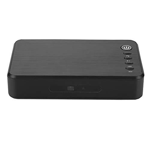 Jadpes 1080P HD-Player, Measy A1HD Multimedia Portable 3D-Festplatte 1080P HD-Player 100-240 V Festplatte Full MKV H.264 HDMI USB-Host-SD mit Fernbedienung für zu Hause(EU)
