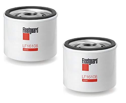 LF16108 Fleetguard Lube Filter (Pack of 2) Replaces (Donaldson P551763, Kohler 1205001, 12 050 01-S, Wix 51056)