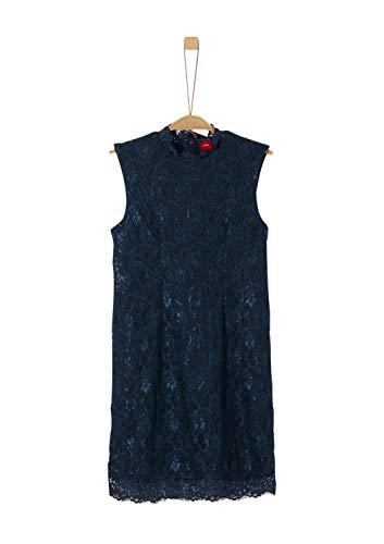 s.Oliver Mädchen Kleid aus elastischer Spitze navy 146.REG