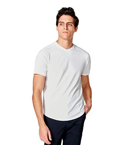 Good Man Brand Men's Premium Cotton Jersey Hi Vee Tee, White, S