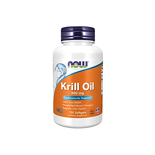 NOW Foods Supplements, Neptune Krill Oil, Phospholipid-Bound Omega-3, 120 Softgels, A662, Unflavored (Pack of 1), 1626