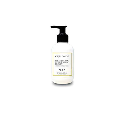 OP BLONDE MÁSCARA DE COLOR REGENERADORA MIEL 9.32, mascarilla capilar de 250 ml revive el color tratamiento iluminador profesional ideal para el cabello rubio miel para cabello teñido o natura