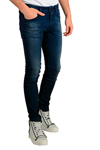 Diesel 0681H - Jeans da uomo tepphar-S Slim Carrot Fit Stretch Blu 30W x 32L