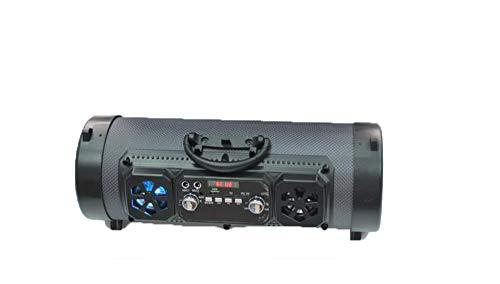 Bluetooth-Lautsprecher, tragbar, kabellos, 15 W, Musik-Lauf-Lautsprecher, wasserdicht, tragbar, Hochleistungs-Bluetooth-Lautsprecher 4.2 für Outdoor, Reisen, Party (grau)