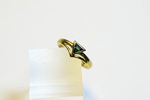 Grüner Turmalin-Ring aus 750/oo Gold