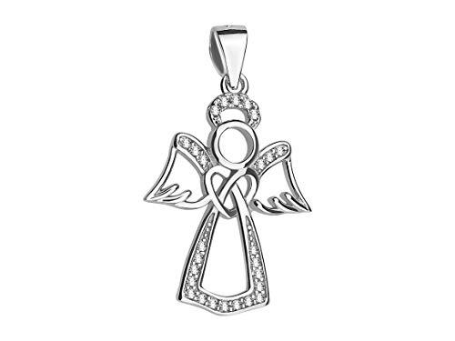 SOFIA MILANI - Colgante para Mujeres en Plata de Ley 925 - con Circonitas - Diseño de Alas de Ángel - 60294
