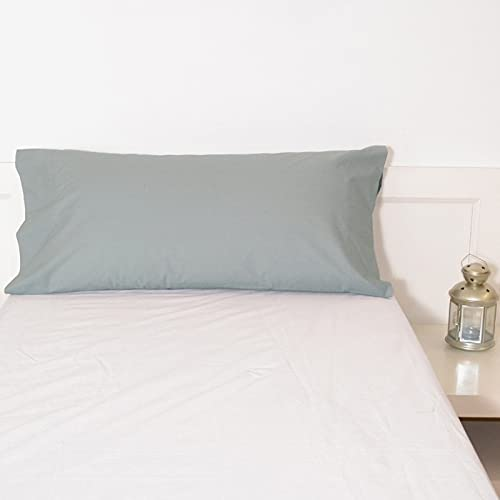 10XDIEZ Funda Almohada Gris Perla 23 Basic | (170cm x 45cm (para Almohada de 150cm) - Gris)