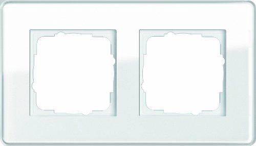 Gira 0212512 Abdeckrahmen 2-fach Esprit Glas C, weiß