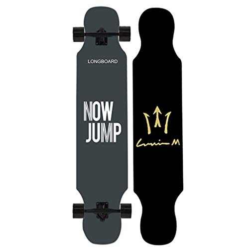 "TYXTYX Skateboard 42 ""Drop Deck Komplettes Longboard, professionelles komplettes Drop Down Through Deck zum Carven von Downhill Cruising Freestyle Riding"