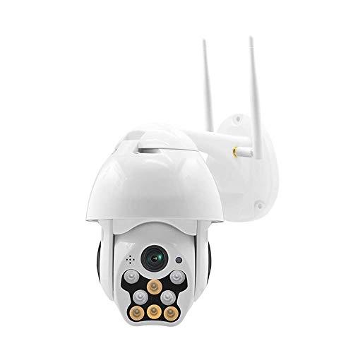DXPSLGrvd Cámara al Aire Libre 1080P HD Cámara IP WiFi Inalámbrico Impermeable Seguridad Vigilancia al Aire Libre Visión Nocturna (Color : US Plug)