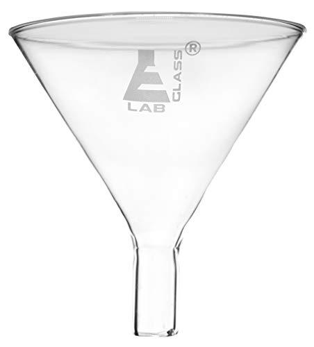 StonyLab Borosilicate Glass Buchner Filtering Funnel 1000ml with Medium Frit with 24//40 Standard Taper Inner Joint and Vacuum Serrated Tubulation 1000ml G2 113mm Inner-Diameter,110mm Depth
